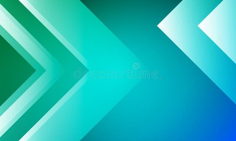 Fundo com as setas no projeto azul verde ilustração royalty free