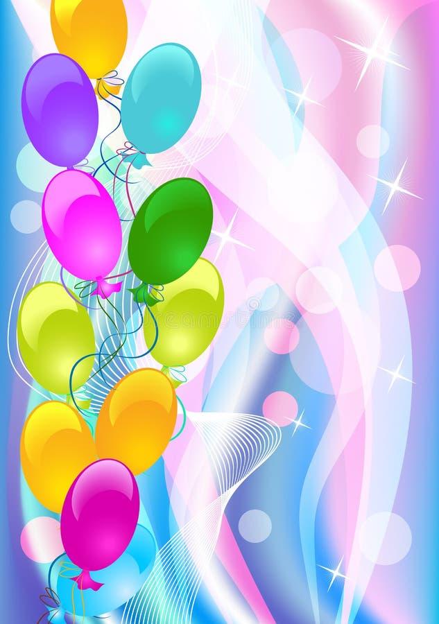 Fundo com balões ilustração royalty free