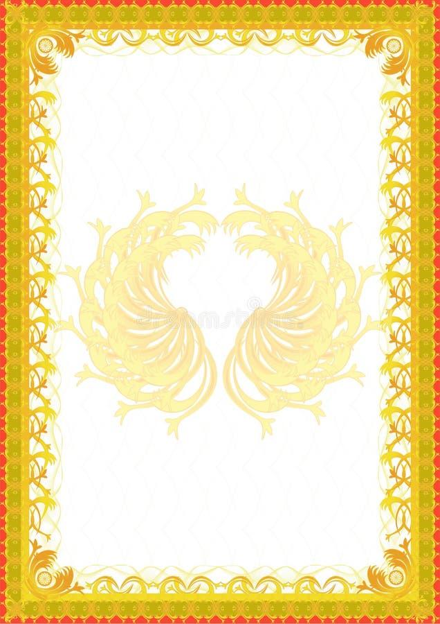 Fundo com beira amarela ilustração do vetor