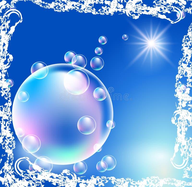 Fundo com bolhas ilustração do vetor