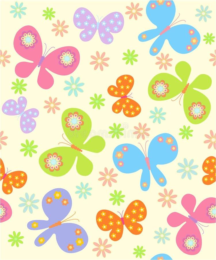 Fundo com borboletas ilustração do vetor