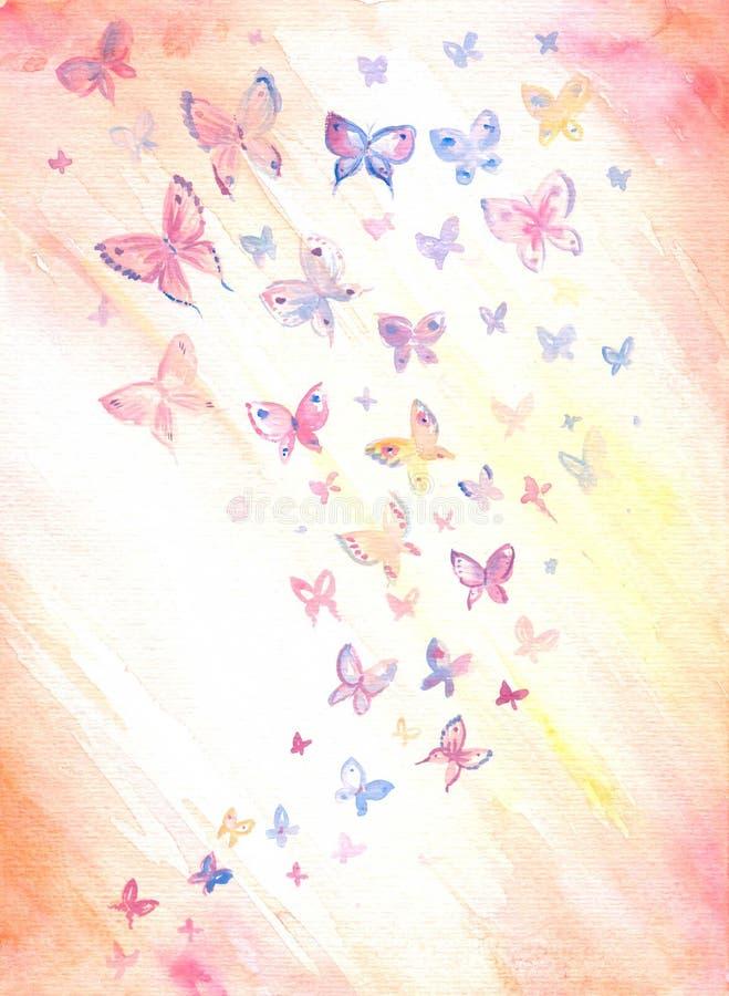 Fundo com butterflys ilustração do vetor