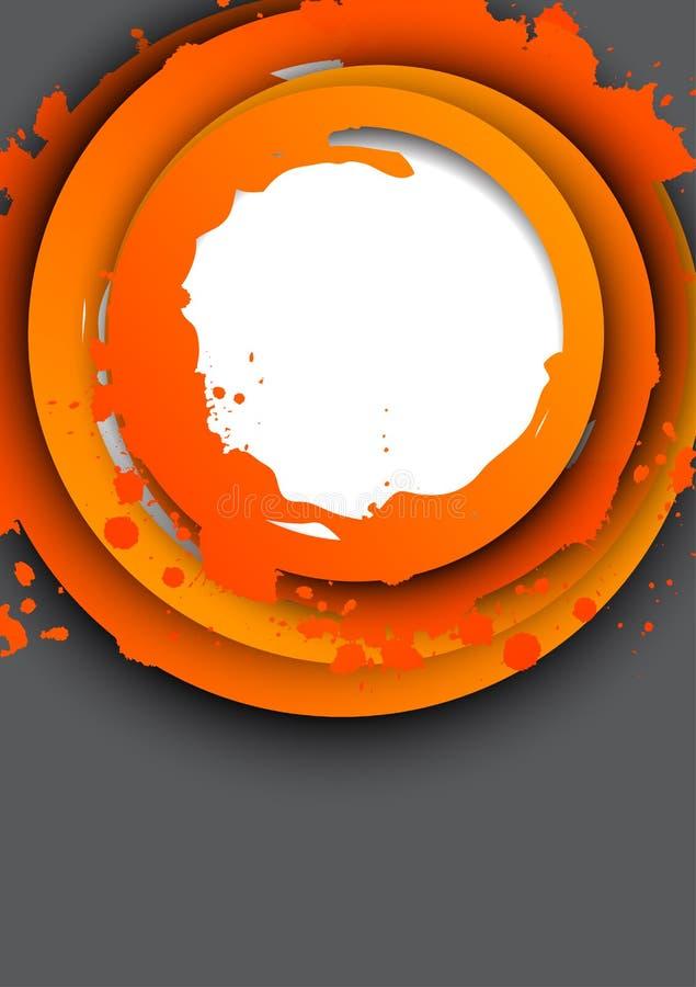 Fundo com círculos alaranjados ilustração do vetor