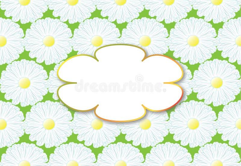 Fundo com camomila das flores ilustração do vetor