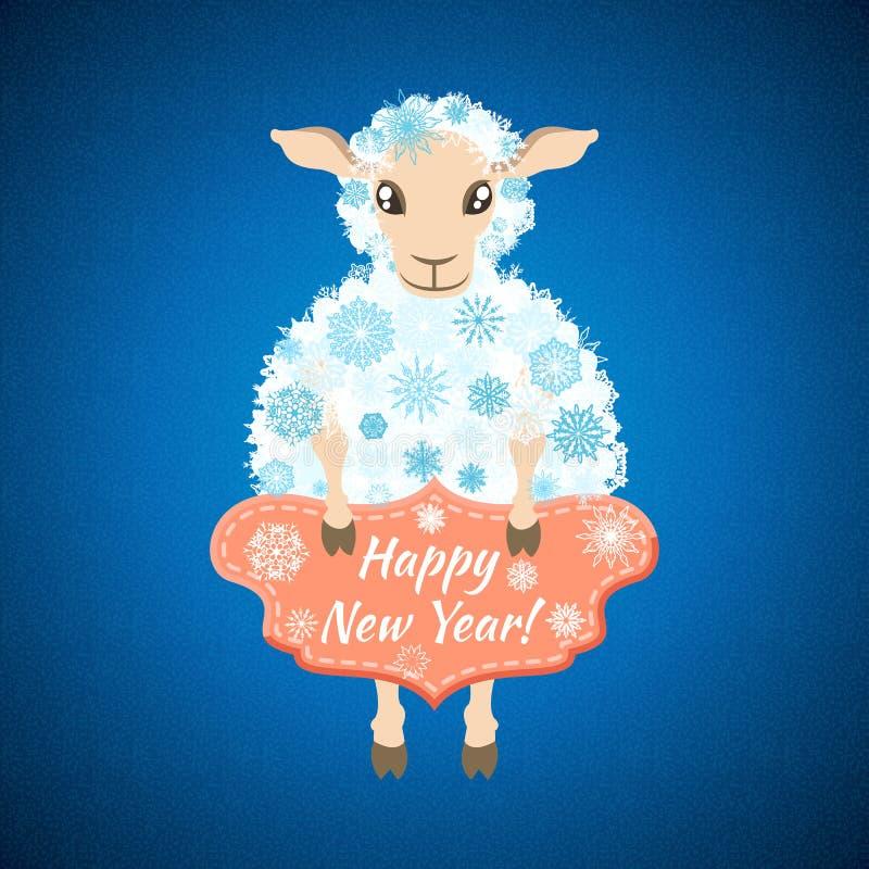 Fundo com carneiros ilustração stock