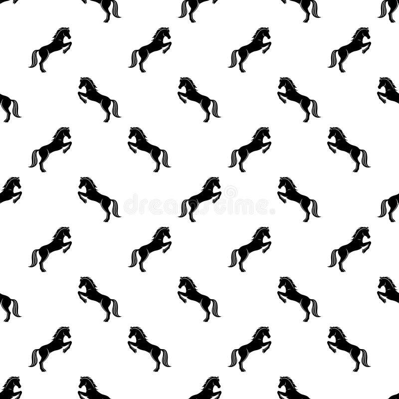 Fundo com cavalos ilustração stock