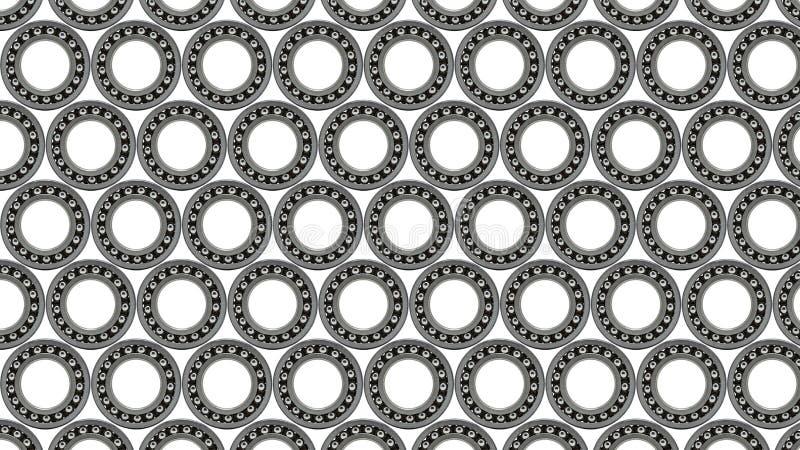 Fundo com close-up pequeno do rolamento de esferas, no fundo branco imagens de stock
