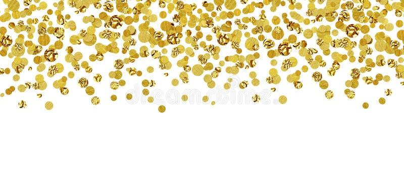 Fundo com confetes dispersados do ouro imagem de stock royalty free