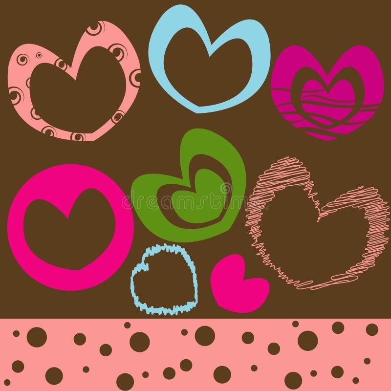 Fundo com coração. Ilustração do vetor ilustração stock