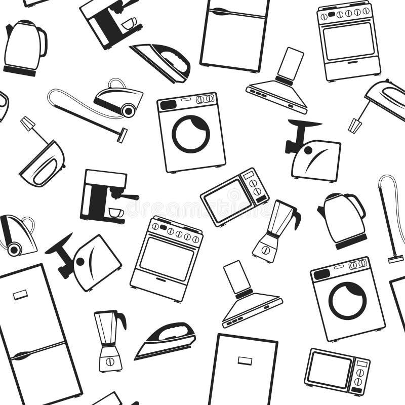 Fundo com dispositivos ilustração stock