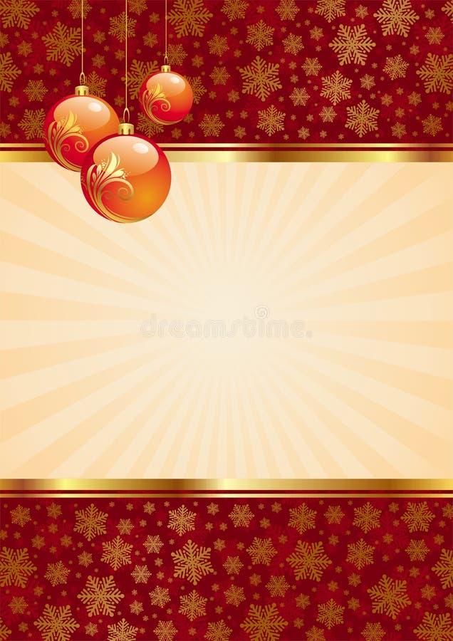 Fundo com esferas do Natal ilustração do vetor