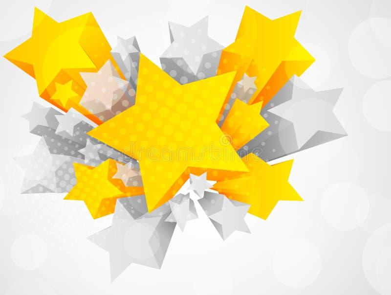 Fundo com a estrela 3d ilustração stock