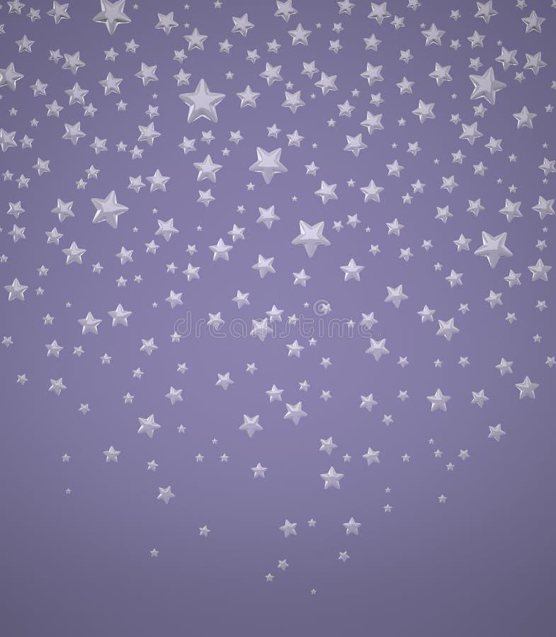 Fundo com estrelas ilustração stock