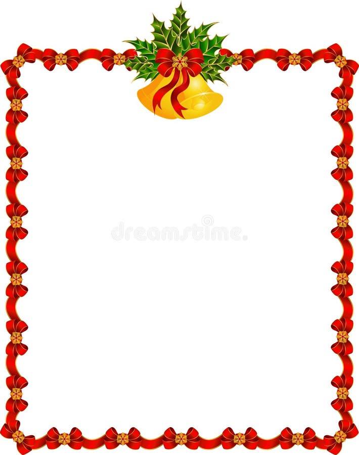 Fundo com festão e sinos. ilustração do vetor