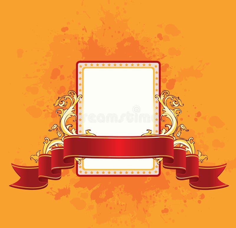 Fundo com fita vermelha ilustração do vetor