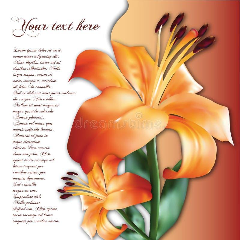 Fundo com flor ilustração do vetor