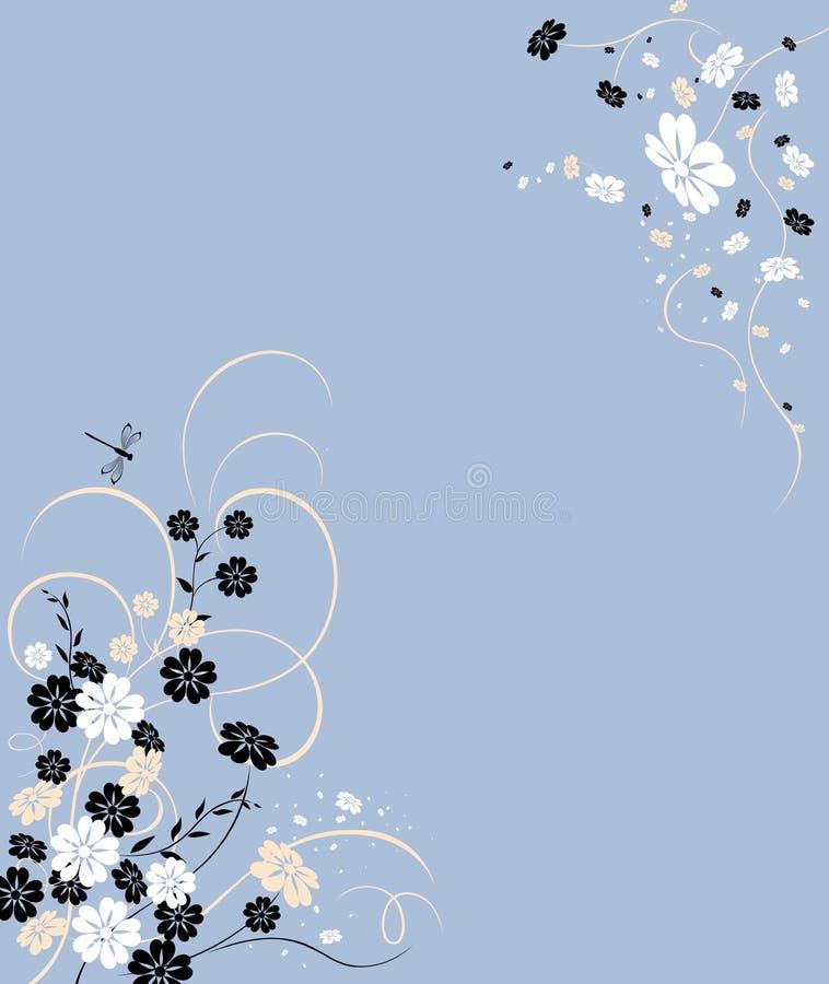Fundo com flor ilustração stock