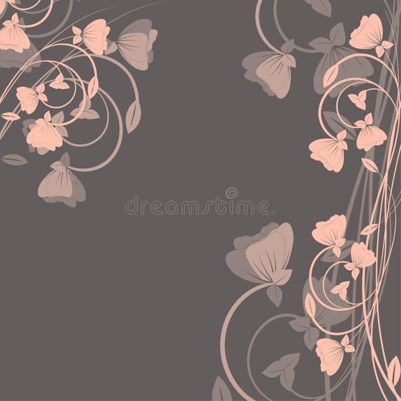 Fundo com flores. ilustração royalty free