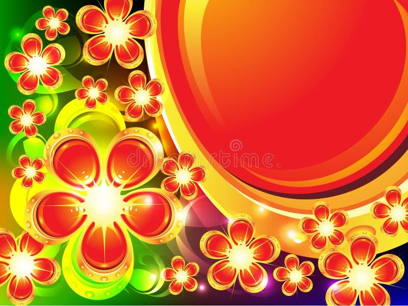 Fundo com flores ilustração royalty free