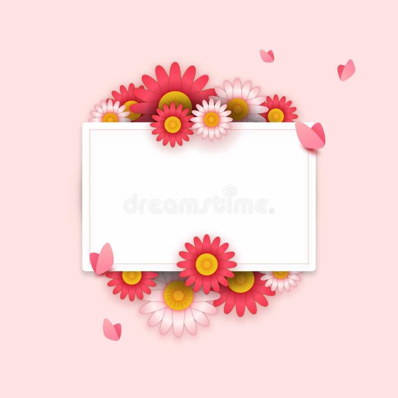 Fundo com flores bonitas ilustração royalty free