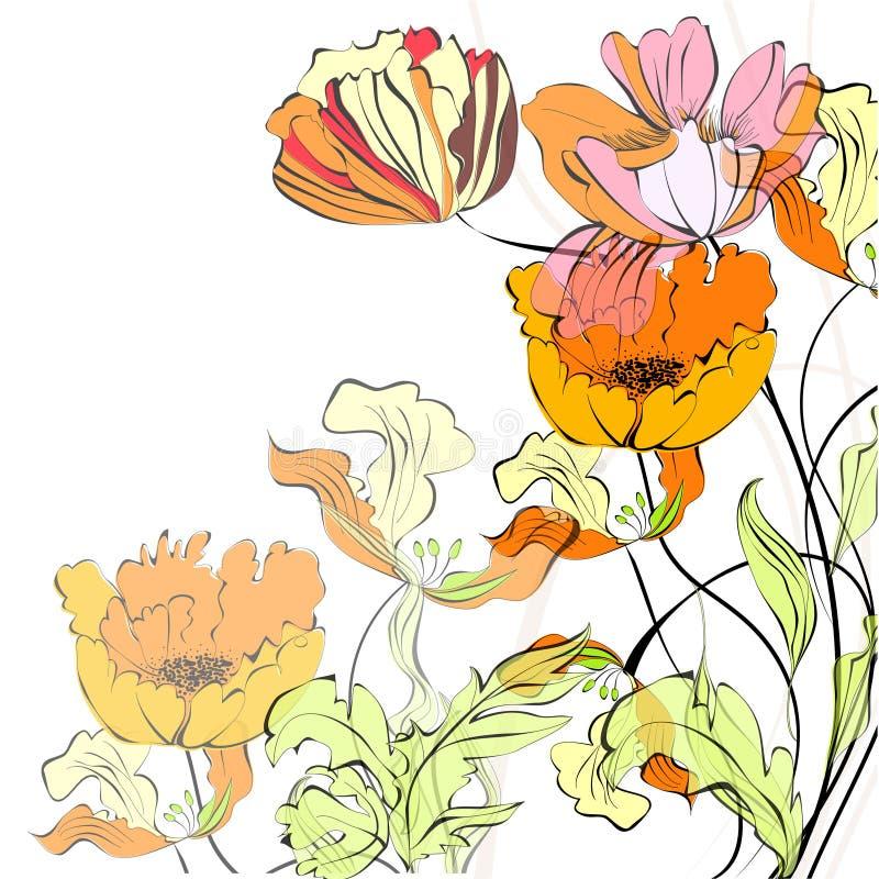 Fundo com flores bonitas ilustração do vetor