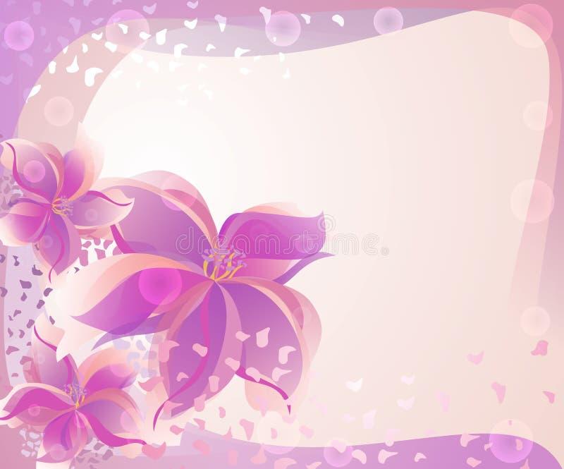 Fundo com flores de Rosa imagens de stock royalty free