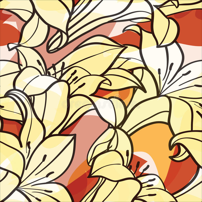 fundo com flores do lírio ilustração royalty free