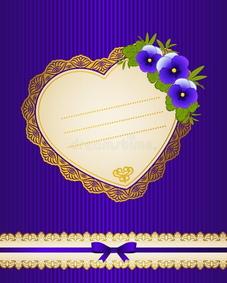 Fundo com flores e ornamento do laço imagem de stock