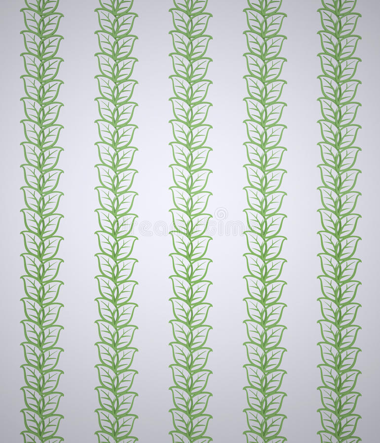 Fundo com folhas decorativas ilustração stock