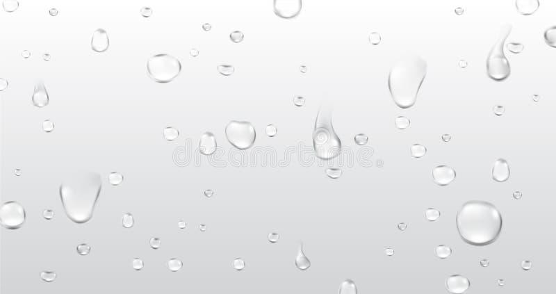 Fundo com gotas da água ilustração do vetor