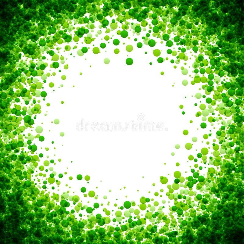 Fundo com gotas verdes ilustração stock