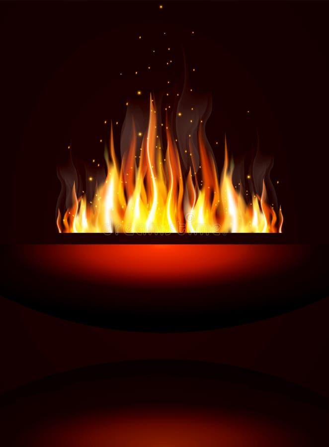 Fundo com incêndio ilustração do vetor
