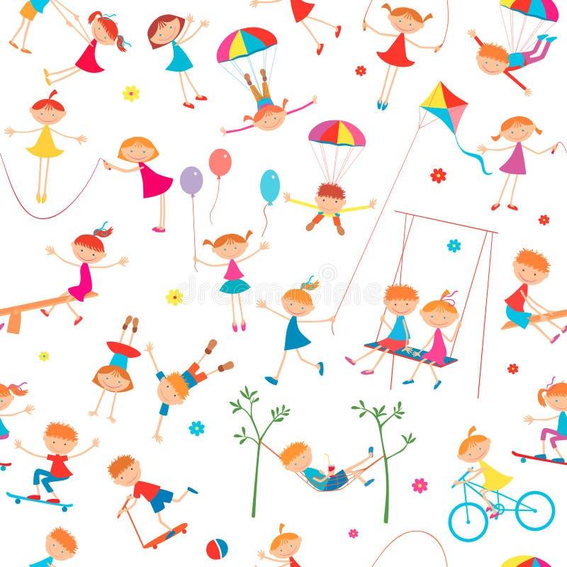 Fundo com jogo de crianças ilustração do vetor