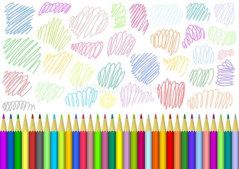 Fundo com lápis coloridos ilustração royalty free