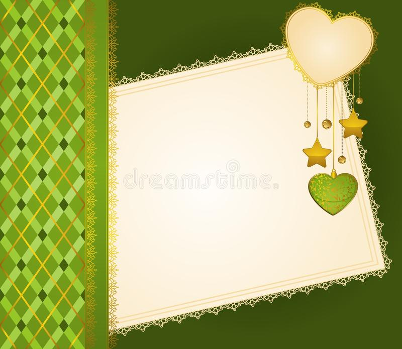 Fundo com laço e corações ilustração royalty free