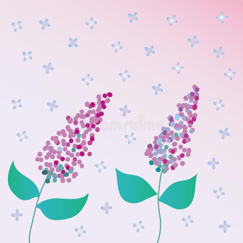 Fundo com lilac ilustração do vetor