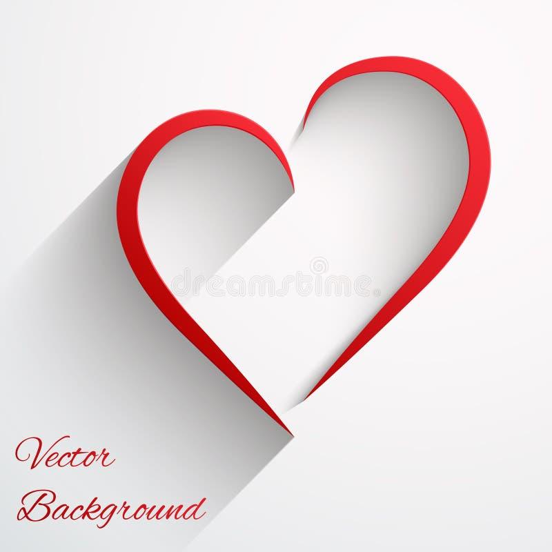 Fundo com linha de coração bonita. Vetor. ilustração do vetor