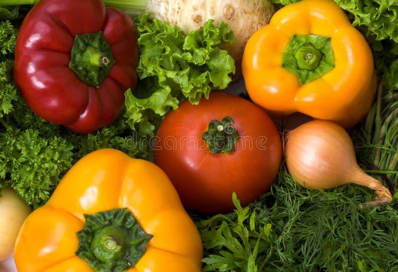 Fundo com lotes dos vegetais foto de stock royalty free