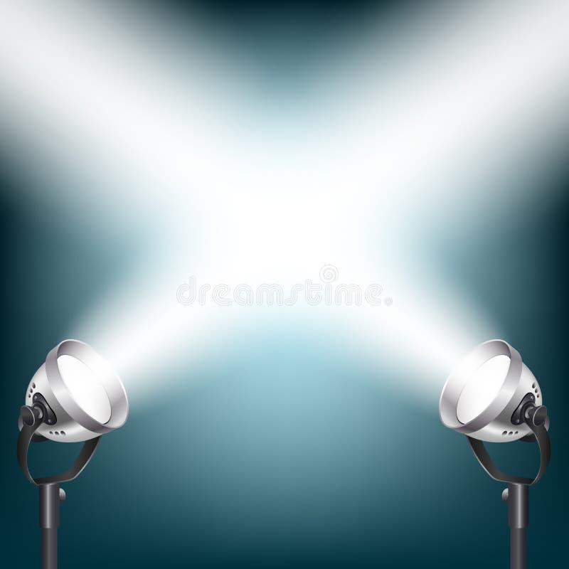 Fundo com luzes do ponto ilustração do vetor