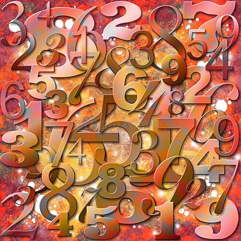 Fundo com números ilustração do vetor
