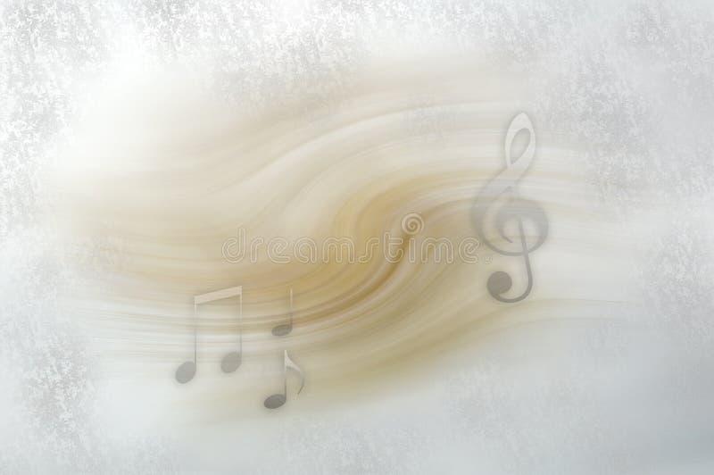 Fundo com notas musicais ilustração do vetor