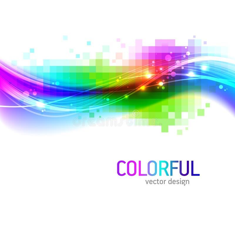 Fundo com onda colorida ilustração do vetor