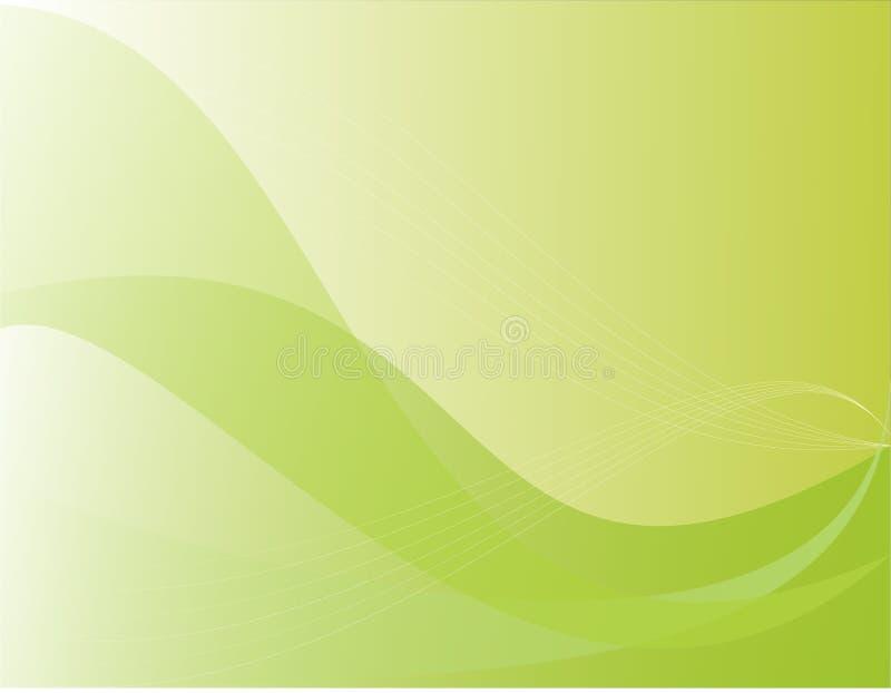 Fundo com ondas verdes ilustração do vetor
