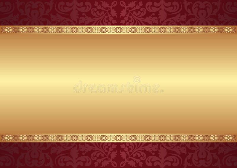 Fundo com ornamento ilustração royalty free