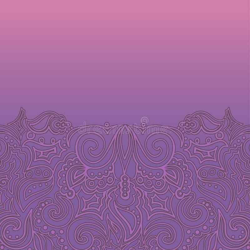 Download Fundo Com Ornamento Do Laço Ilustração do Vetor - Ilustração de beira, floral: 26518492