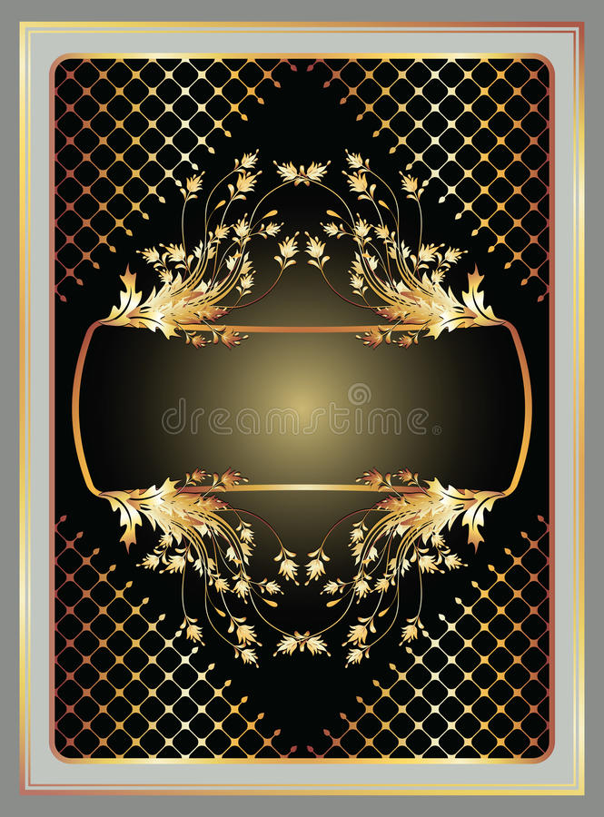 Fundo com ornamento dourado ilustração royalty free