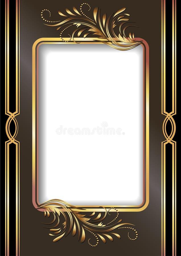 Fundo com ornamento dourado ilustração do vetor