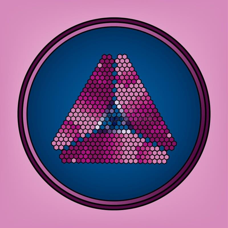 Fundo com os rombos em cores lilás com espaço ilustração royalty free