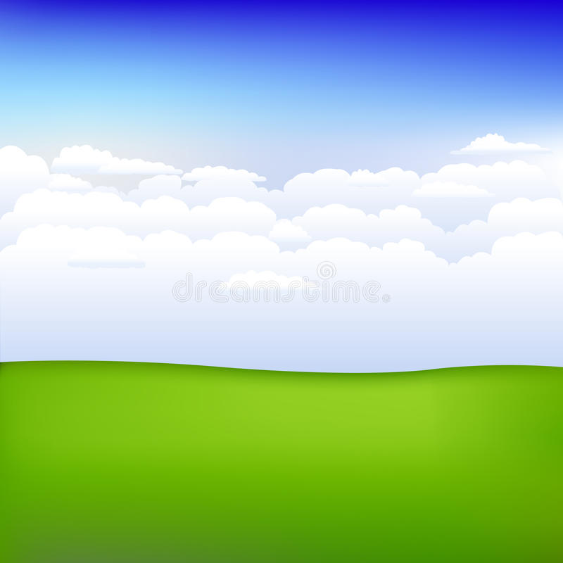 Fundo com paisagem. Vetor ilustração do vetor