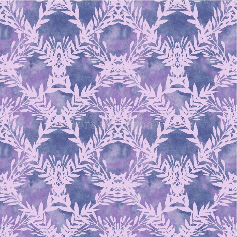 Fundo com ramos violetas ilustração do vetor